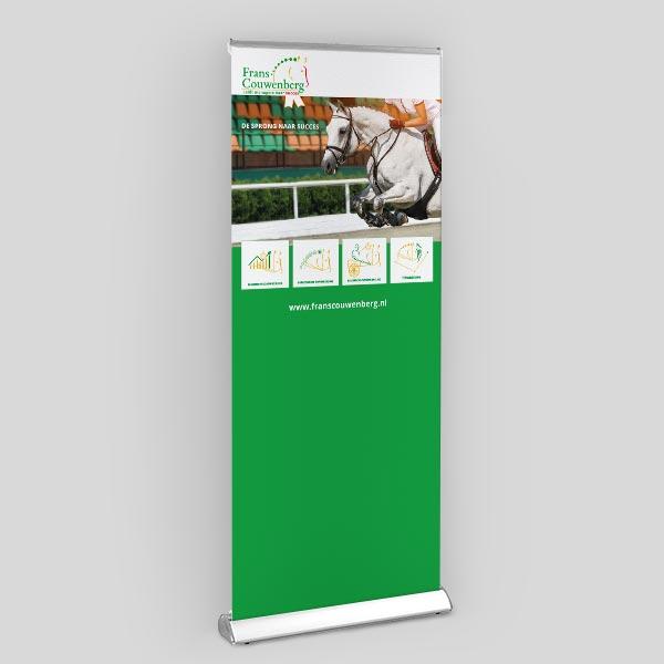 Roll up banner ontwerp en realisatie voor Frans uit veldhoven