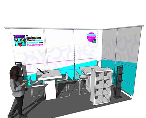 beursstand 3D ontwerp voor packaging event