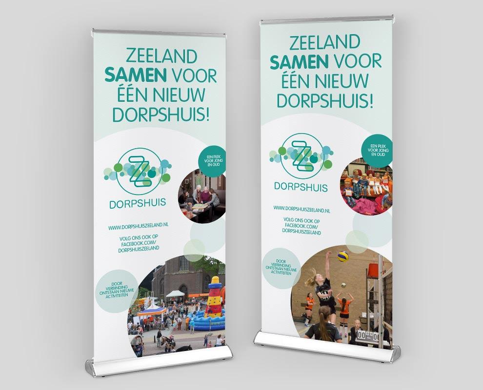 banner ontwerp en realisatie voor dorpshuis zeeland